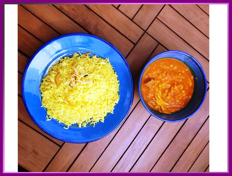 شکر پلو شیرازی غذای سنتی شیراز