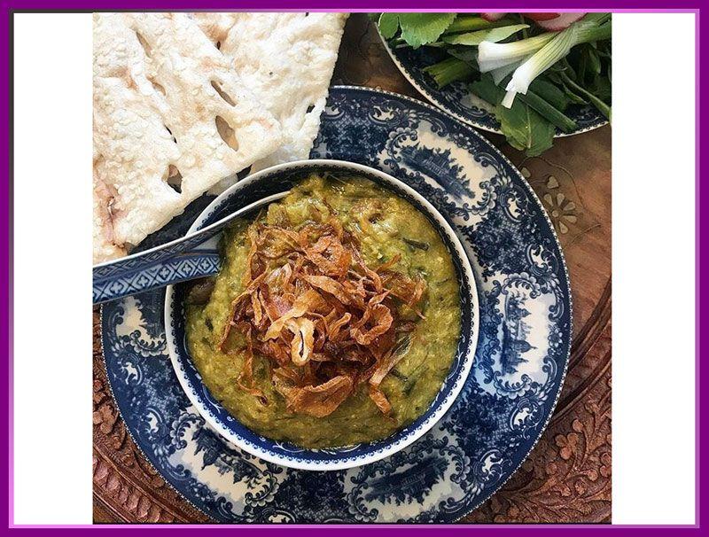 آش سبزی از غذاهای خوشمزه شیراز