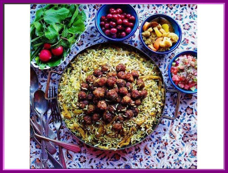 قنبرپلو شیرازی از غذاهای سنتی شیراز