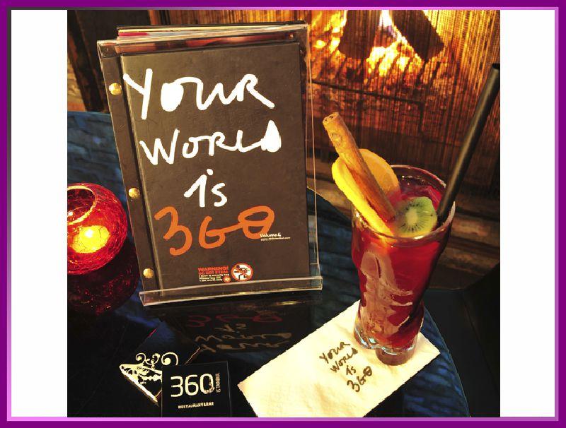 نمونه ای از نوشیدنی های رستوران 360 استانبول