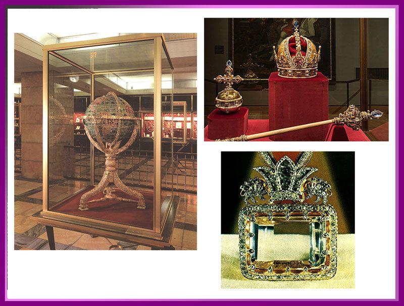 چند نمونه از اشیای قیمتی موزه جواهرات ملی تهران
